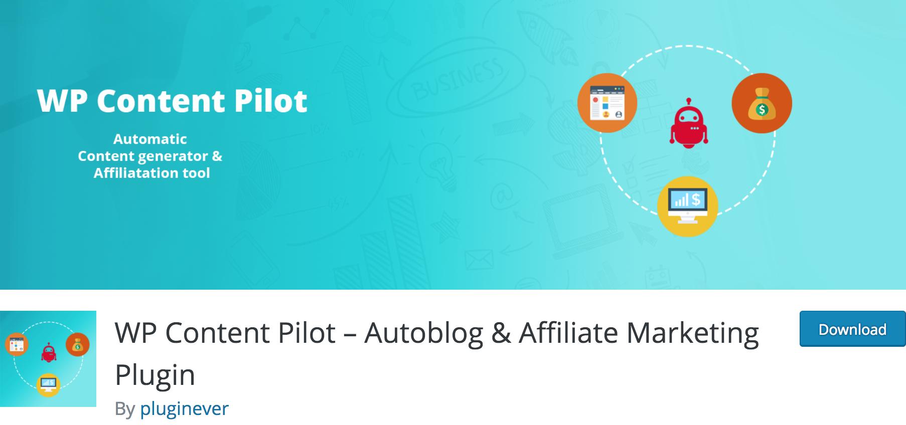 WP Content Pilot autoblogging Plugin