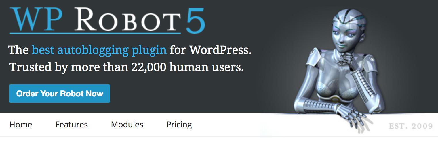 WP Robot autoblogging plugin