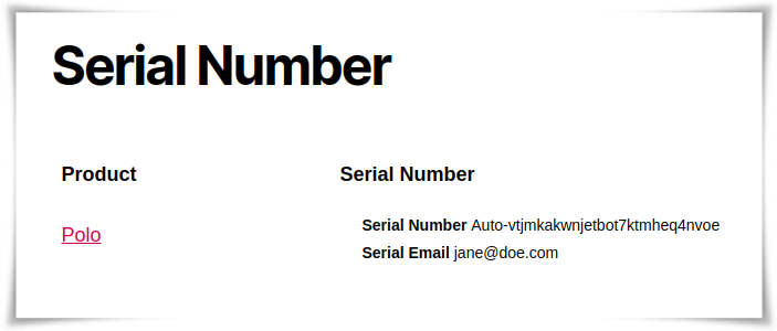 Automatic Serial Number Generation