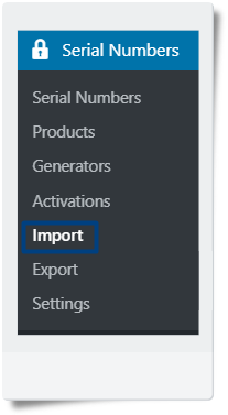 Import Serial Numbers in CSV and txt format