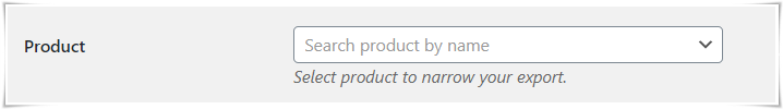 Export Serial Numbers of Specific products