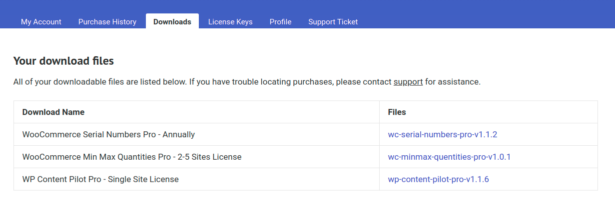 Download your premium Plugins