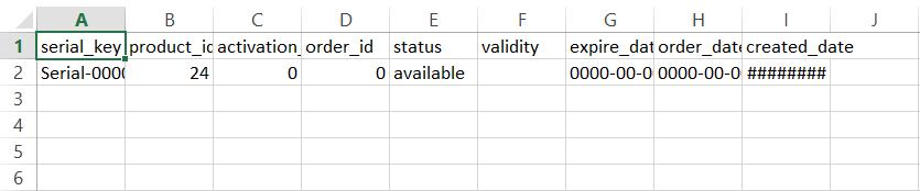 WooCommerce Serial Number - Import