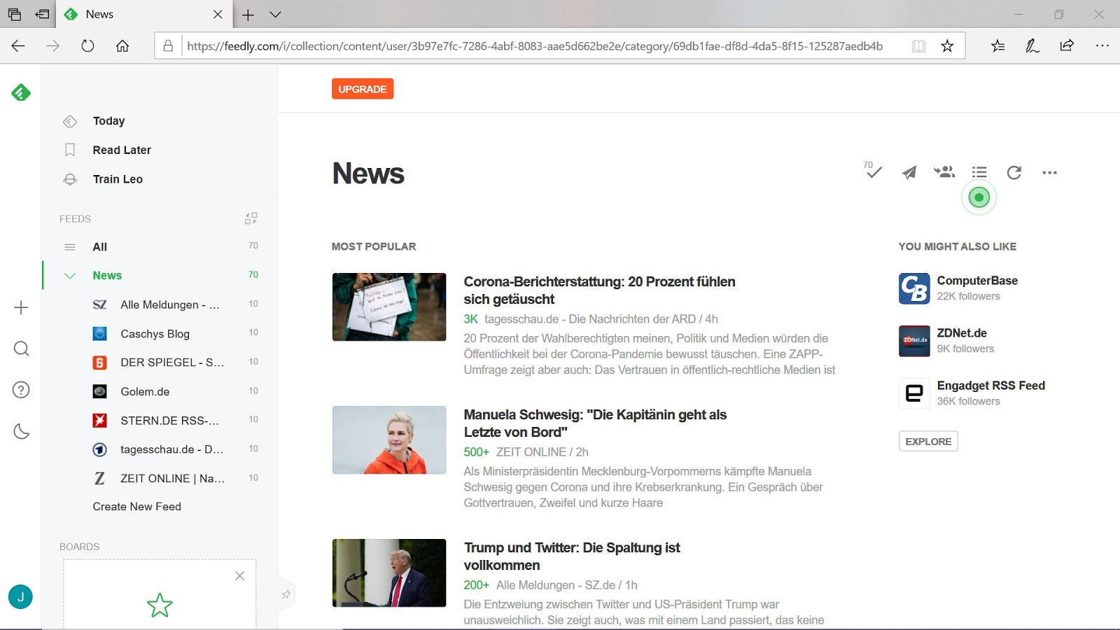 Create news feed and social media content with rss files