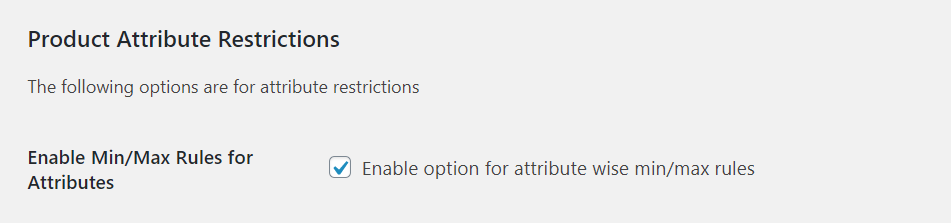 Product Attribute Restrictions - WooCommerce Min Max Quantitie