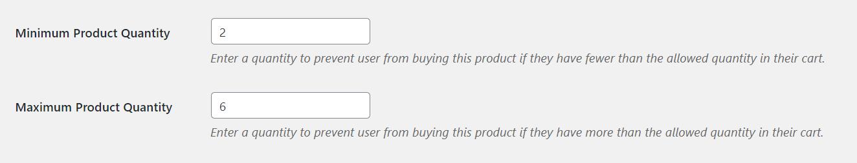 Min Max Quantities for WooCommerce - Global min max quantity