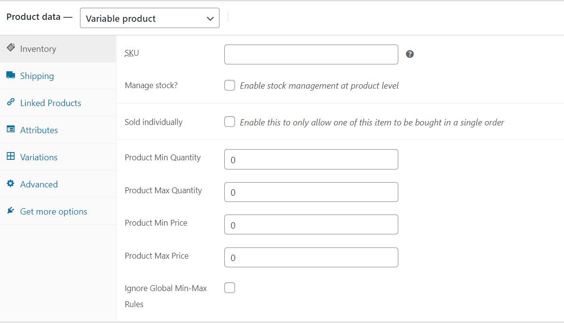 Min Max Quantities for WooCommerce-Product Specific Minimum and Maximum Quantity and Price